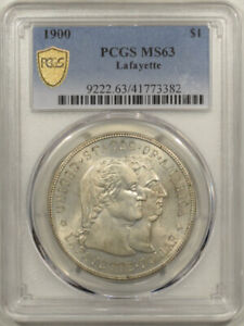 1900 LAFAYETTE COMMEMORATIVE SILVER DOLLAR   PCGS MS 63