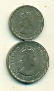 2 DIFFERENT COINS FROM MALAYA & BRITISH BORNEO   10 & 20 CENTS  BOTH 1961