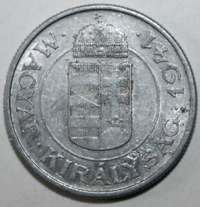 HUNGARIAN 2 PENG COIN 1941 BP BUDAPEST KM 522 HUNGARY HORTHY TWO PENGO WWII