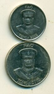 2 DIFFERENT COINS FROM TONGA   10 & 20 SENTI  BOTH DATING 2002