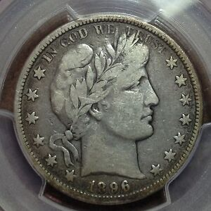 1896 O  PCGS  F 15   BARBER HALF DOLLAR  LITY MOST OF BER  NICE COIN  TOUGH DATE