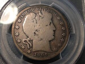1904 S  PCGS  G 4  BARBER HALF DOLLAR   Y AND PART OF LT  SEMI KEY DATE 1