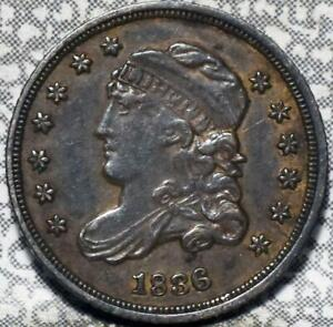 1836 CAPPED BUST HALF DIME IDGG818