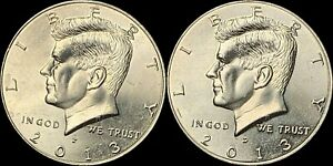 2013 P&D NIFC KENNEDY HALF DOLLARS BEAUTIFUL COINS FAST SHIPPING