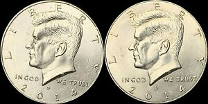 2014 P&D NIFC KENNEDY HALF DOLLARS BEAUTIFUL COINS FAST SHIPPING