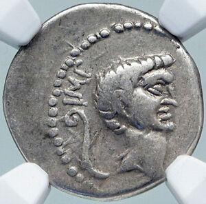 Click now to see the BUY IT NOW Price! MARK ANTONY 42BC MILITARY MINT ANCIENT SILVER ROMAN DENARIUS COIN SOL NGC I87707