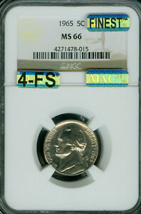 Click now to see the BUY IT NOW Price! 1965 JEFFERSON NICKEL NGC MAC MS66 4FS BUSINESS STRIKE SPOTLESS $20 000.00 IN FS