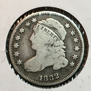 1832   FINE   CAPPED BUST DIME  NICE COIN