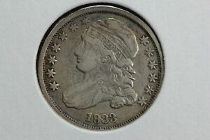 1833 CAPPED BUST DIME 1GUH