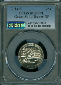 Click now to see the BUY IT NOW Price! 2014 S GREAT SAND DUNES QUARTER PCGS MAC MS 68 PL MAC FINEST & SPOTLESS POP 3 .