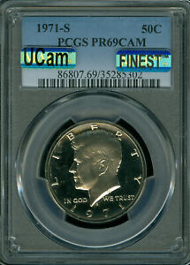 Click now to see the BUY IT NOW Price! 1971 S KENNEDY HALF DOLLAR PCGS PR 69 CAM MAC UCAM FINEST & MAC SPOTLESS .