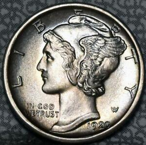 Click now to see the BUY IT NOW Price! 1920 D 65FB FULL SPLIT BANDS MERCURY DIME IDGG849