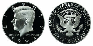 AMAZING COIN   1992 S KENNEDY HALF DOLLAR 90  SILVER PROOF    GREAT FOR SET