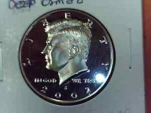 2002 S KENNEDY HALF DOLLAR DEEP CAMEO PROOF FROM MINT SET H204