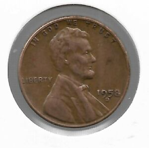 ANTIQUE 1958 US LINCOLN WHEAT PENNY COLLECTION CENT COIN LAST YEAR LOT229