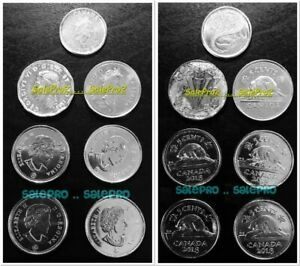 7X CANADA 1945 2001 2002 2018 CANADIAN NO DATE NICKEL DIME 5 & 10 CENT COIN LOT