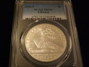 2000 P   $1         LIBRARY            PCGS  MS 70