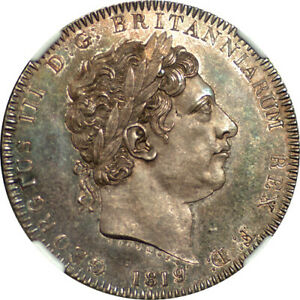 Click now to see the BUY IT NOW Price! GREAT BRITAIN 1819 GEORGE III SILVER PROOFLIKE CROWN NGC MS 65