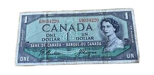 CANADA DOLLAR PAPER CURRENCY  $1  1954
