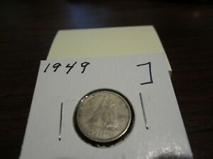 1949   SILVER   CANADIAN DIME   CANADA 10 CENTS