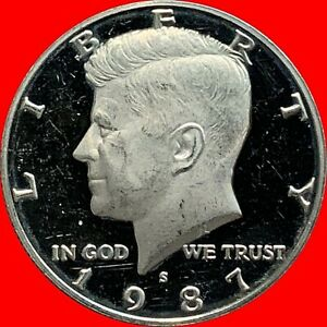 1987 S CLAD PROOF KENNEDY HALF DOLLAR NICE PROOF COIN FAST SHIPPING