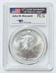 Click now to see the BUY IT NOW Price! 1986 $1 SILVER EAGLE PCGS MS70 MERCANTI SIGNATURE
