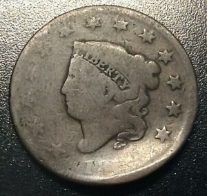 LARGE CENT NO DATE PARTIAL DATE BENT AS SHOWN  3