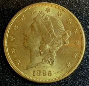 1895 S $20 GOLD DOUBLE EAGLE LIBERTY COIN