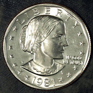 1981 D SUSAN B. ANTHONY DOLLAR  UNCIRCULATED  FRESH FROM MINT SET 130