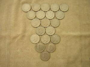 20 COIN LOT  1971 1972 1974 AND 1976  EISENHOWER DOLLARS