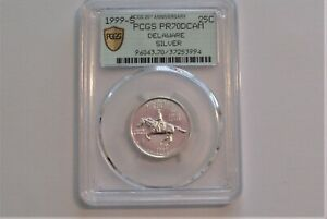 Click now to see the BUY IT NOW Price! 1999 WASHINGTON STATEHOOD QUARTER DELAWARE SILVER PCGS PR70 DCAM REGISTRY RANK1