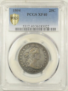 Click now to see the BUY IT NOW Price! 1804 DRAPED BUST QUARTER   PCGS XF 40