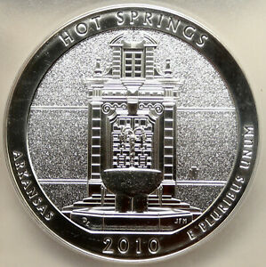 Click now to see the BUY IT NOW Price! 2010 UNITED STATES HOT SPRINGS ARKANSAS 5OZ PROOFLIKE SILVER 25 COIN PCGS I95254
