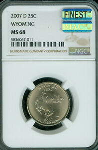 Click now to see the BUY IT NOW Price! 2007 D WYOMING QUARTER NGC MAC MS 68 PQ FINEST BUSINESS STRIKE SPOTLESS POP 4 .