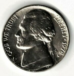 1978 D JEFFERSON NICKEL UNC. FILL YOUR COIN BOOK 0915
