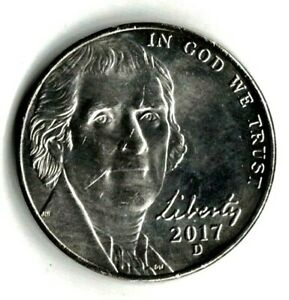 2017 D JEFFERSON NICKEL UNC. FILL YOUR COIN BOOK 0917