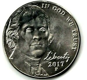 2017 P JEFFERSON NICKEL UNC. FILL YOUR COIN BOOK 0918