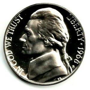 1968 S JEFFERSON NICKEL GEM PROOF UNC. FILL YOUR COIN BOOK 0920