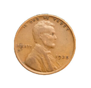 1935 P LINCOLN WHEAT CENT IN AVERAGE BN CIRCULATED CONDITION 2377 SHIPS FREE
