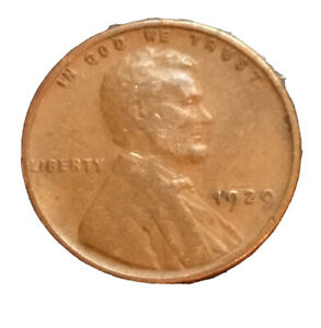 1929 P LINCOLN WHEAT PENNY 2416