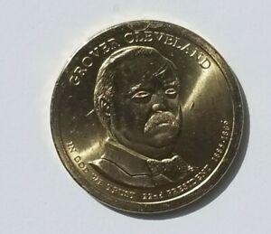 2012 P GROVER CLEVELAND PRESIDENTIAL DOLLAR COIN   ERROR   DIE CHIP ON FOREHEAD