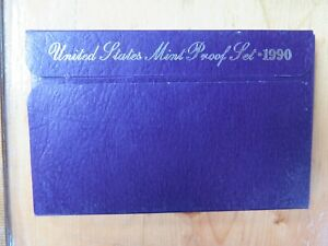 1990 S U.S.PROOF SET. GENUINE COMPLETE & ORIGINAL ISSUED BY US MINT   COMBINE