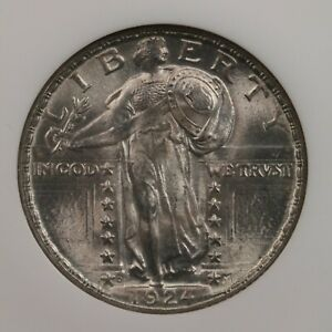 1924 D STANDING LIBERTY 25C NGC CAC CERTIFIED MS66 DENVER MINT SILVER QUARTER