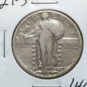 1927 S  STANDING LIBERTY QUARTER  LOW MINTAGE