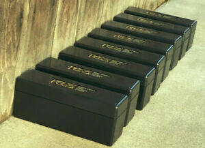 LOT OF 6 USED PCGS BLACK STORAGE BOXES    20 COIN   BUY 2 LOTS    1  MORE FREE