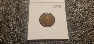 1894 INDIAN HEAD CENT    MINT ERROR CLIPPED PLANCHET