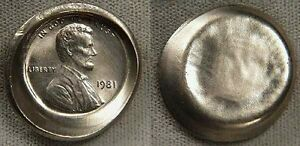 Click now to see the BUY IT NOW Price! 1981  CENT ON NICKEL  PLANCHET    UNIQUE AND SUPPOSEDLY  IMPOSSIBLE