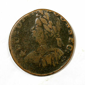 1787 M 8 O OFF CENTER CONNECTICUT COLONIAL COPPER COIN