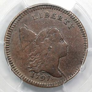 Click now to see the BUY IT NOW Price! 1797 C 3A R 3 PCGS VF 25 LOW HEAD PL EDGE LIBERTY CAP HALF CENT COIN 1/2C