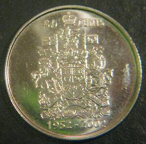CANADIAN 50C COMMEMORATIVE COIN 2002 GOLDEN JUBILEE UNCIRCULATED